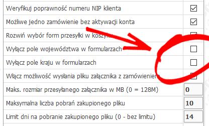 pole kraj województwo w koszyku