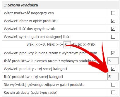 produkty pokrewne z tej samej kategorii